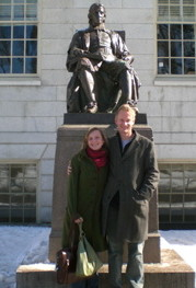 Elka und Stephan in Harvard